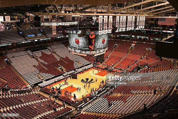 An overall view of the Air Canada Centre before Game Six of the NBA Eastern Conference Finals between the Cleveland Cavaliers and the Toronto Raptors...