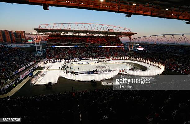 An overall view of the stadium before the start of the 2017 Scotiabank NHL Centennial Classic between the Detroit Red Wings and the Toronto Maple...