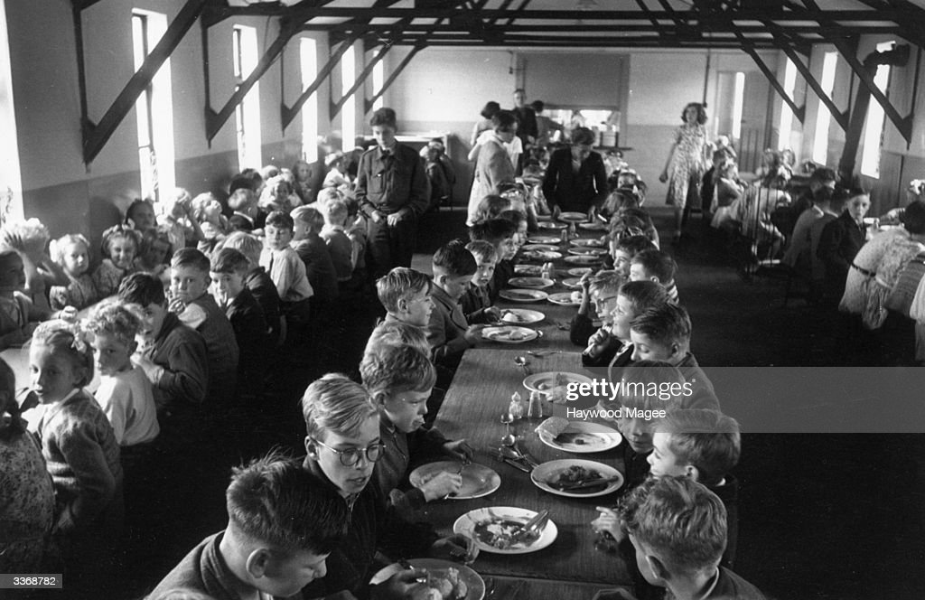 Coventry Dining. Coventry Dining Overcrowded Hall Walsgrave Colliery School  Near Filled Children Post Getty Images