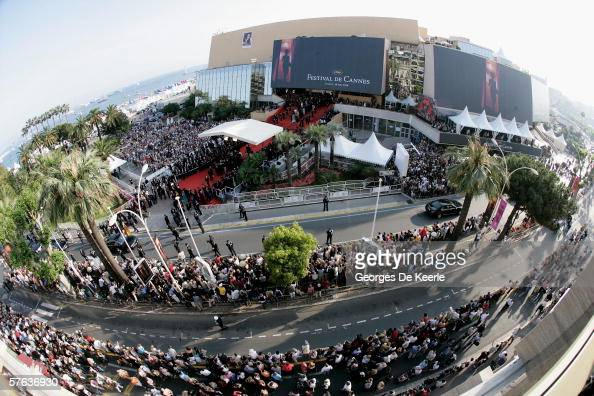 An overhead view of the red carpet at the Palais during 'The Da Vinci Code' World Premiere Opening Gala at the Palais during the 59th International...