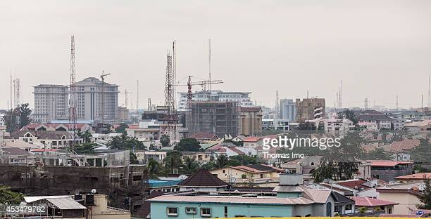 An overview of Lagos Skyline on June 11 2014 in Lagos Nigeria