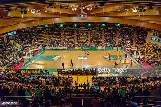 An overview of the arena during the 20142015 Turkish Airlines Euroleague Basketball Regular Season Date 5 game between Limoges CSP vs CSKA Moscow at...