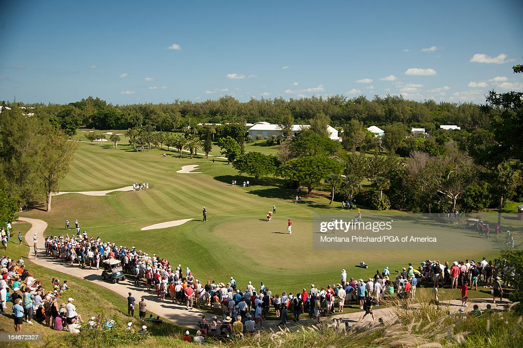 An overview of the gallery during the final round of play at The Port Royal Golf Club for the 30th Grand Slam of Golf on October 24, 2012 in Southampton, Bermuda.