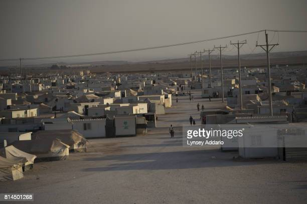An overview of Zaatari camp in Mafraq Province Jordan September 14 2013 There are roughly 120000 Syrian refugees living in the Zaatari camp and an...