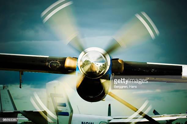 An propeller on an airplane, Sweden.