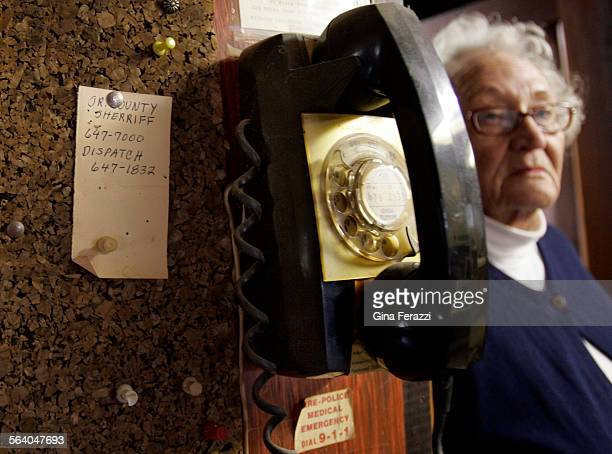 An rotary wall phone stillk remains in Flo Nilson's at Mystic Oaks nudist colony in the Cleveland National Forest in Lake Elsinore The nudist colony...