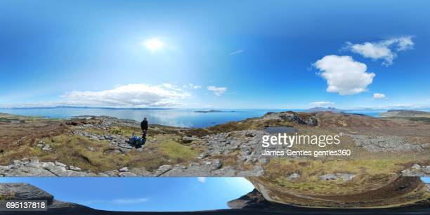An Sgurr, Island of Eigg, a view off and the panoramic view from