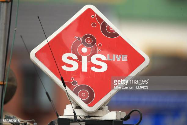 An SIS Live satellite dish