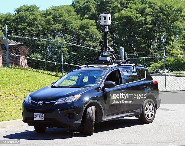 An SUV outfitted with computer surveillance technology prepares to map local streets for the Microsoft product Bing Street View on August 28 2014 in...