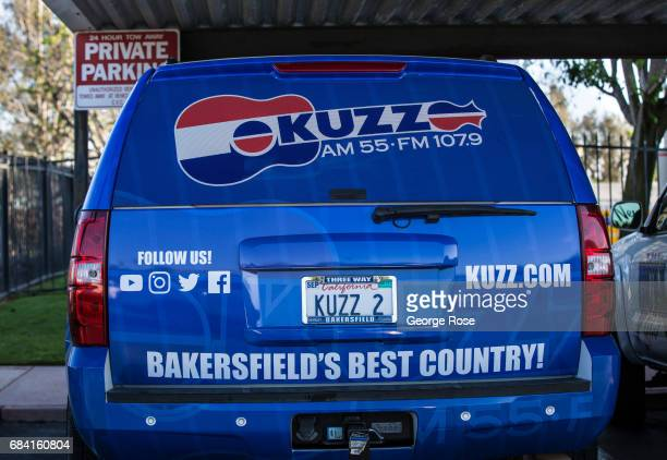 An SUV parked outside the KUZZ country music radio station is viewed on April 4 in Bakersfield California California Highway 58 stretches across the...