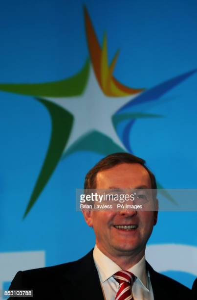 An Taoiseach Enda Kenny TD at the Fine Gael ard fheis at the RDS Dublin PRESS ASSOCIATION Photo Picture date Saturday March 1 2014 See PA story...