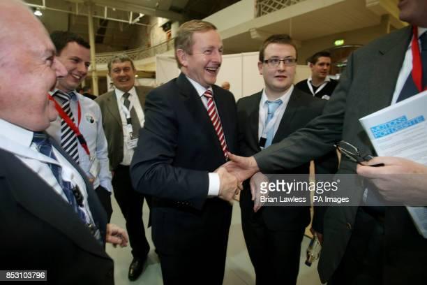 An Taoiseach Enda Kenny TD meets delegates at the Fine Gael ard fheis at the RDS Dublin