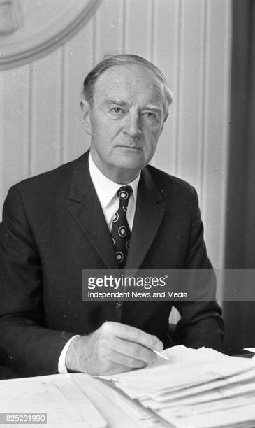 An Taoiseach Liam Cosgrave in his office circa June 1977