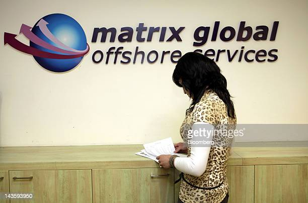An ultra orthodox Israeli woman works in the offices of Matrix Global a unit of Matrix IT Ltd in Modi'in Illit Israel on Sunday April 29 2012...