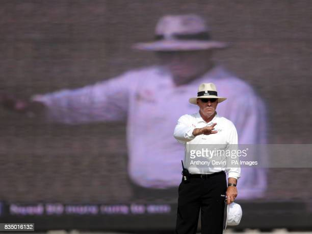 An umpire during the first test match between India and England