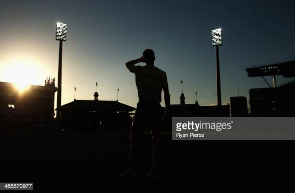 An umpire looks on during the round five AFL match between the Sydney Swans and the Fremantle Dockers at Sydney Cricket Ground on April 19 2014 in...