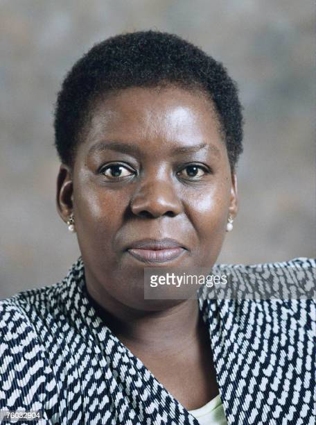 An undated filer picture shows South African deputy health minister Nozizwe MadlalaRoutledge who was sacked by President Thabo Mbeki 08 August 2007...
