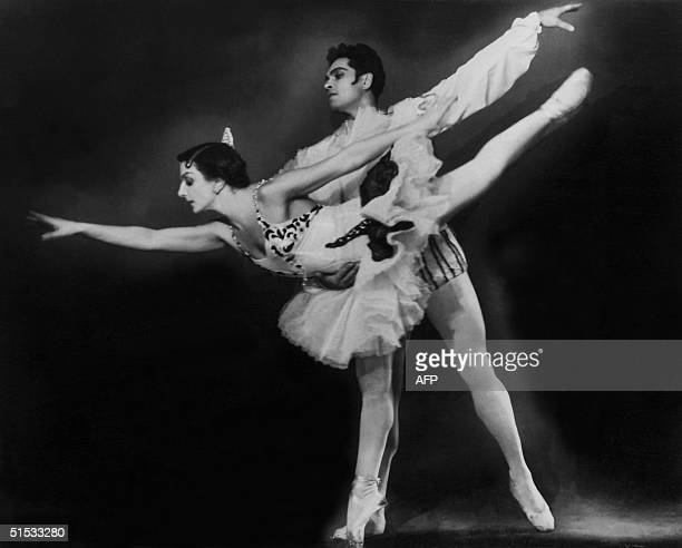 An undated photo of Natalia Dudinskaya one of the most celebrated ballerinas to grace the stages of Saint Petersburg dancing in 'Don Quichotte' with...