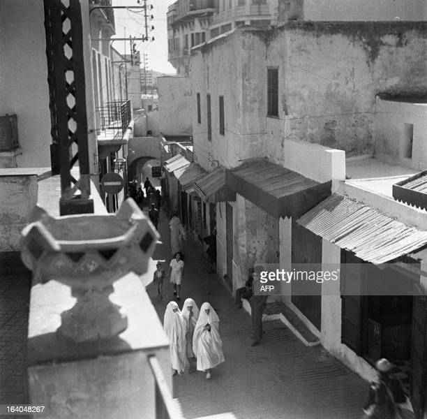 An undated photo taken of a street in Tangiers AFP PHOTO