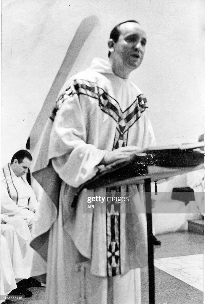 An undated photot of Jorge Mario Bergoglio at the pulpit.
