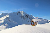 An undated picture shows the site of an avalanche that killed five French Foreign Legionnaires near the resort of Valfrejus in the French Alps on...