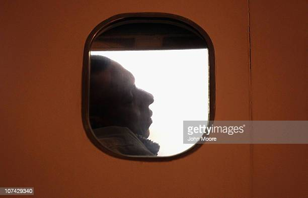 An undocumented immigrant from El Salvador waits for his deportation flight to depart for San Salvador on December 8 2010 in Mesa Arizona Of the 111...