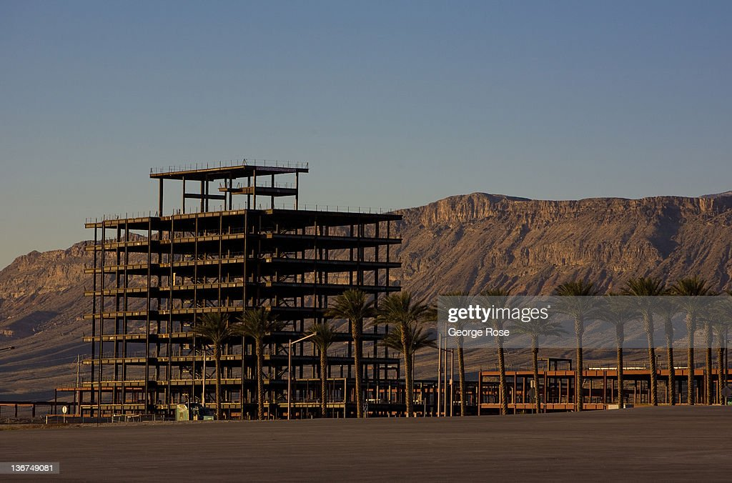 An unfinished highrise building in the Summerlin area stands as an empty skeleton against the early morning sky on December 27, 2011 in Las Vegas, Nevada. Though tourism is slowly making a comeback on the Strip, the economic conditions surrounding the gambling town remain difficult.