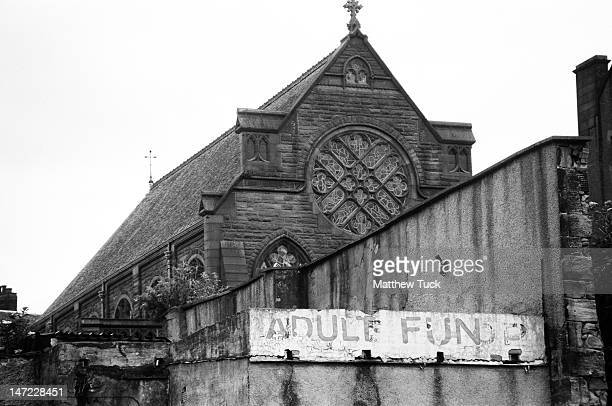 An unfortunate placement of what appeared to be the backside of an old sex shop or something by the church on London Road in Glasgow