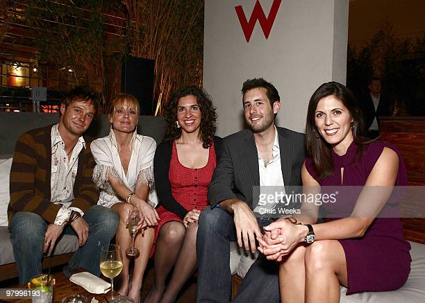 An unidentified guest actress Emma Caulfield Jack Schaeffer an unidentified guest and Jessica Igoe attend the 2010 Tribeca Film Festival program...