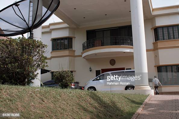 An unidentified man enters the North Korean Embassy compound on February 22 2017 in Kuala Lumpur Malaysia North Korean leader Kim Jong Un's older...