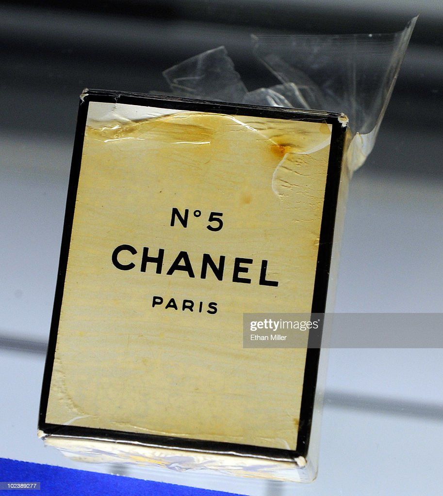 An unopened bottle of Chanel No. 5 perfume in its original plastic wrap and box, owned by Marilyn Monroe, is displayed at Julien's Auctions annual summer sale at the Planet Hollywood Resort & Casino June 24, 2010 in Las Vegas, Nevada. The auction, which continues through Sunday, features 1,600 items from entertainers including Michael Jackson, Anna Nicole Smith, Marilyn Monroe, Cher, Elvis Presley and Star Trek creator Gene Roddenberry.