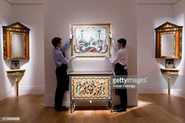 An unpublished work by 18th century French painter Francois Boucher and a rare Italian commode circa 1790 go on view at the exhibition of the Pelham...
