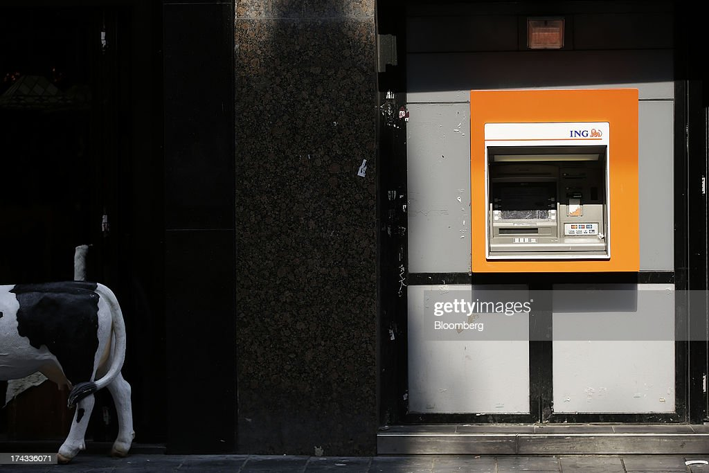 An unused automated teller machine (ATM) operated by INV Groep NV stands on a street in Amsterdam, Netherlands, on Tuesday, July 23, 2013. Dutch pension funds will be allowed to calculate liabilities on the basis of an adjusted discount rate as the government seeks to keep the retirement system viable amid low interest rates and an aging population. Photographer: Matthew Lloyd/Bloomberg via Getty Images
