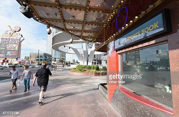 An unused walkup window at the sports book at the Riviera Hotel Casino is shown on April 30 2015 in Las Vegas Nevada The Las Vegas Convention and...