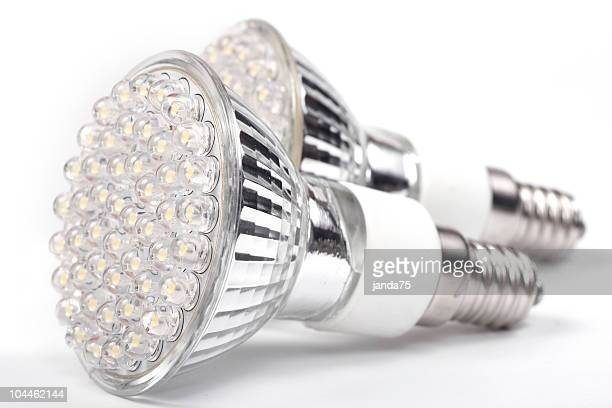 An up close picture of LED lights