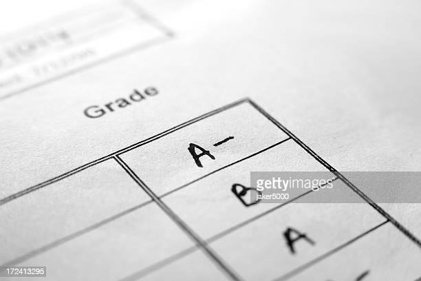 An up close picture of report card grades