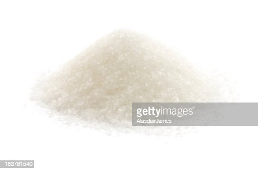 An up close picture of sugar on a white background