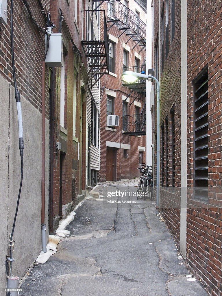An urban alley way