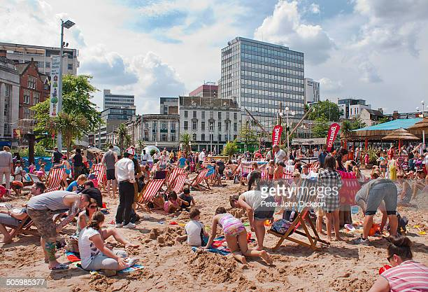 An urban beach in Nottingham's Old Market Square