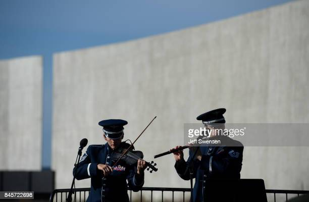 An US Airfare ensemble plays for visitors at the Flight 93 National Memorial on the 16th Anniversary ceremony of the September 11th terrorist attacks...