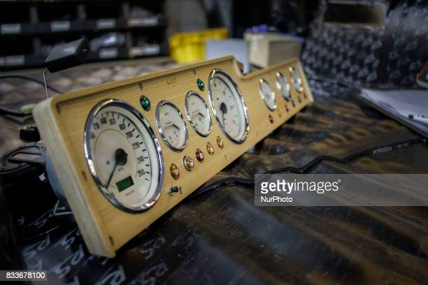 An Wood classical dashboard displayed on the work room table at mohenic garages in Paju south Korea A 20yearold beat up Hyundai SUV isn't anyone's...