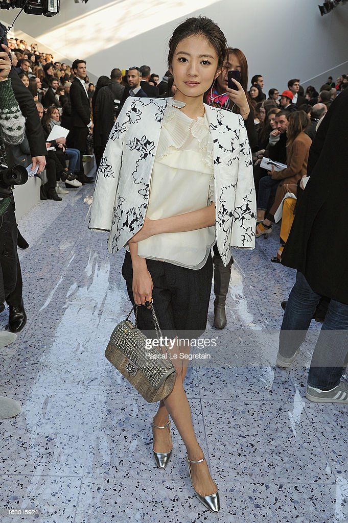 An Yi Xuan attends the Chloe Fall/Winter 2013 Ready-to-Wear show as part of Paris Fashion Week on March 3, 2013 in Paris, France.