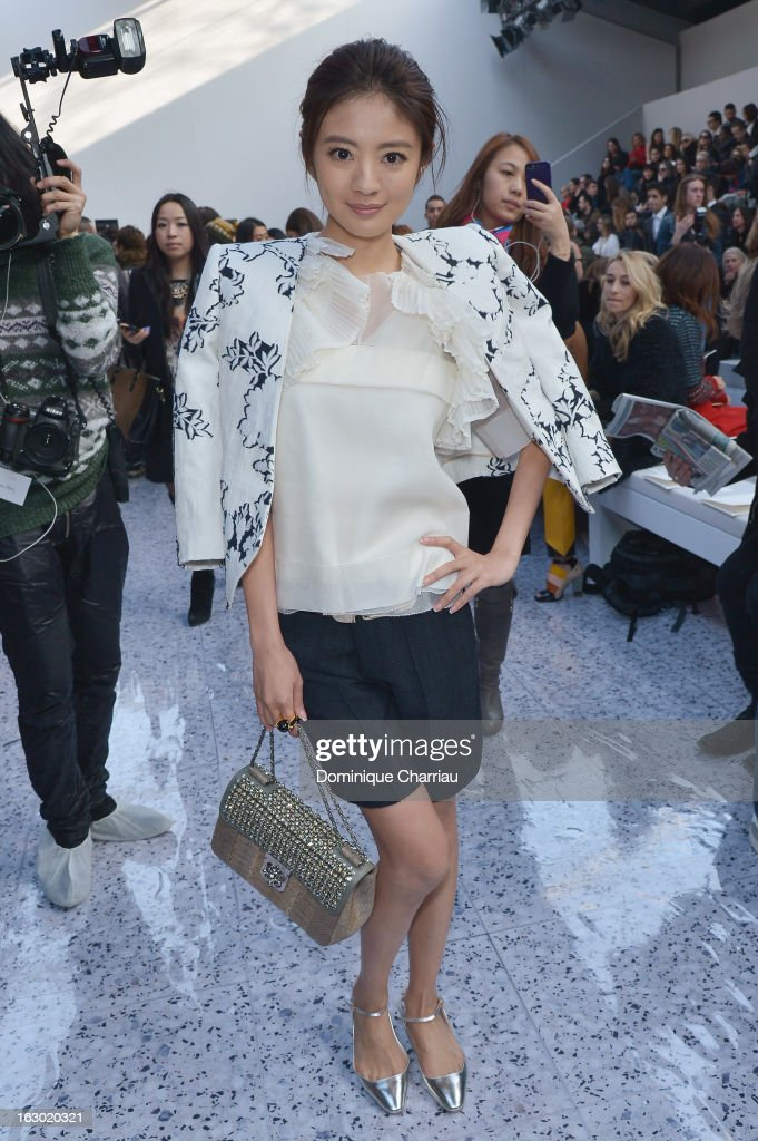 An Yixuan attends the Chloe Fall/Winter 2013 Ready-to-Wear show as part of Paris Fashion Week on March 3, 2013 in Paris, France.