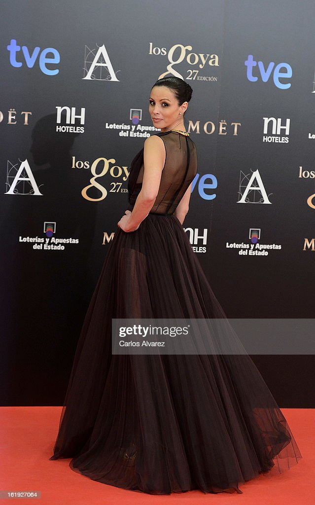 Ana Alvarez attends Goya Cinema Awards 2013 at Centro de Congresos Principe Felipe on February 17, 2013 in Madrid, Spain.