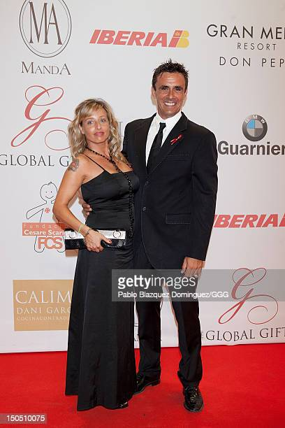 Ana and Alonso Caparros attend the Global Gift Gala held to raise benefits for Cesare Scariolo Foundation and Eva Longoria Foundation on August 19...