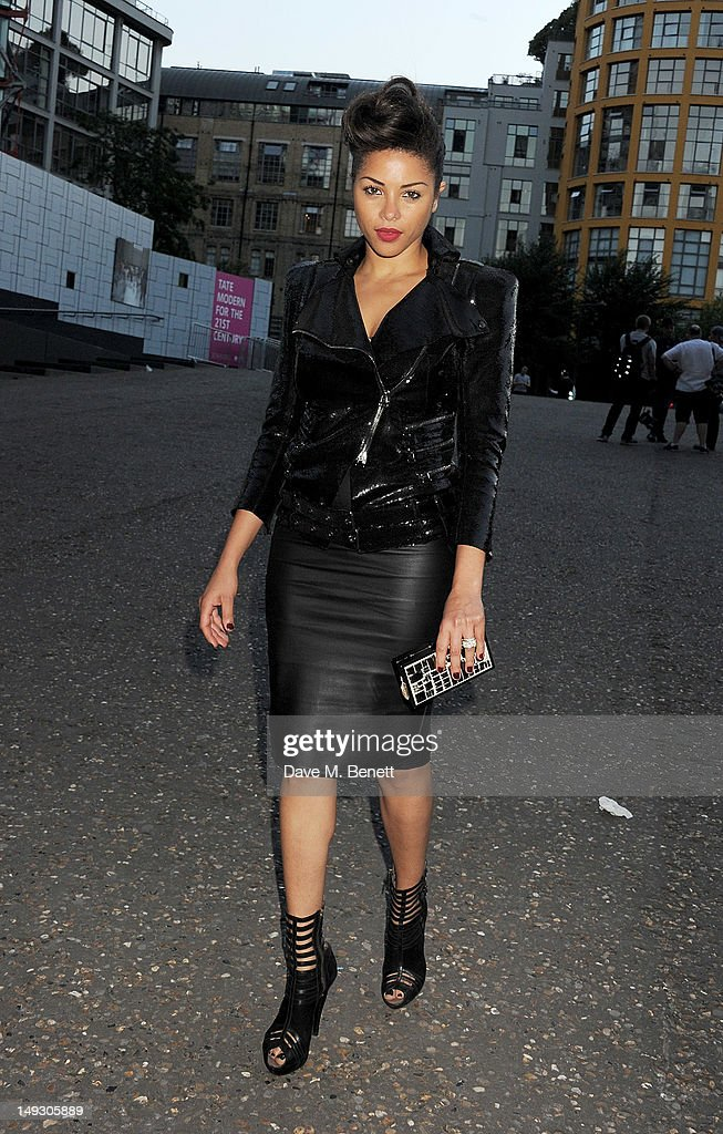 Ana Araujo arrives at the Warner Music Group Pre-Olympics Party in the Southern Tanks Gallery at the Tate Modern on July 26, 2012 in London, England.