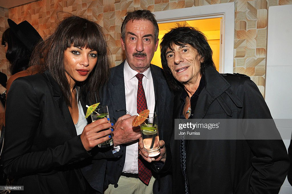 Ana Araujo, John Challis and Ronnie Wood attend the Gold Nelson Mandela House launch, celebrating Only Fools at 30 on Gold on August 23, 2011 in London, England.