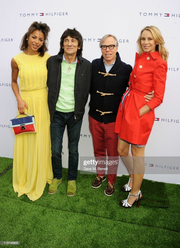 Ana Araujo, Ronnie Wood, Tommy Hilfiger and <a gi-track='captionPersonalityLinkClicked' href=/galleries/search?phrase=Dee+Ocleppo&family=editorial&specificpeople=592235 ng-click='$event.stopPropagation()'>Dee Ocleppo</a> attend the launch of the new Tommy Hilfiger pop up shop at Tommy Hilfiger 'Prep World' Covent Garden on May 5, 2011 in London, England.