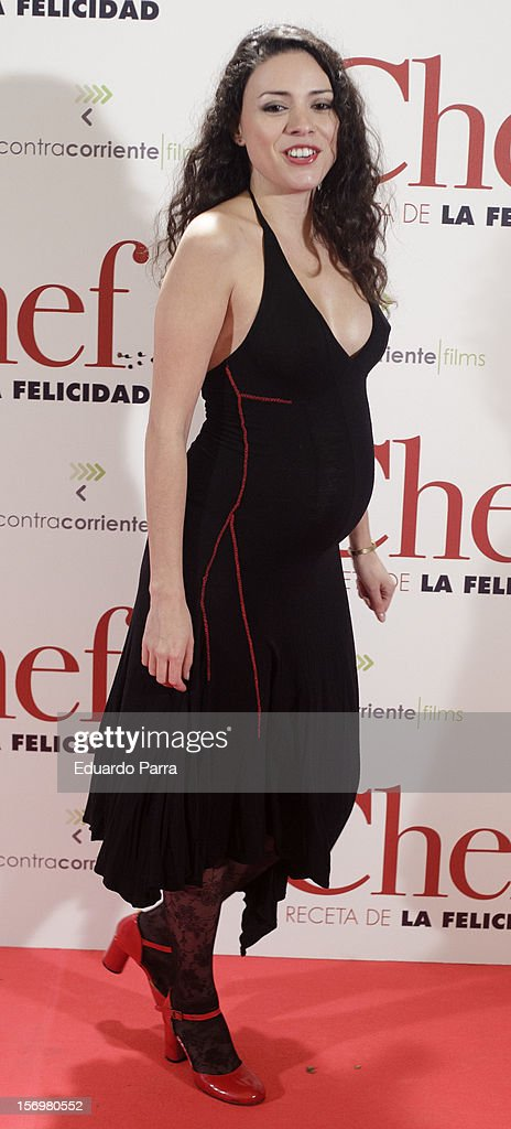 Ana Arias attends 'El chef, la receta de la felicidad' ('Comme un chef') premiere photocall at Palafox cinema on November 26, 2012 in Madrid, Spain.