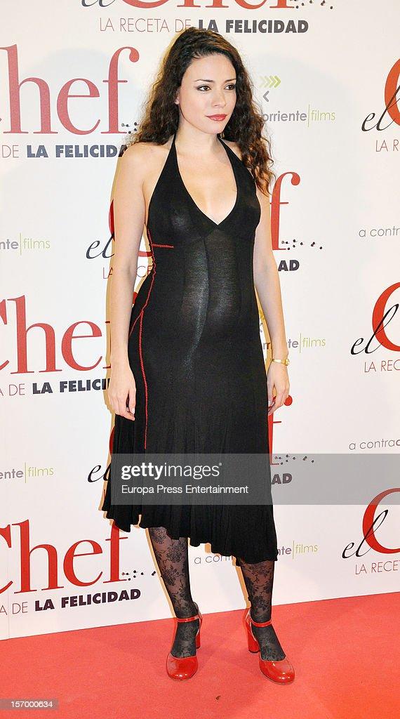Ana Arias attends 'El Chef, La Receta de la Felicidad' premiere on November 26, 2012 in Madrid, Spain.